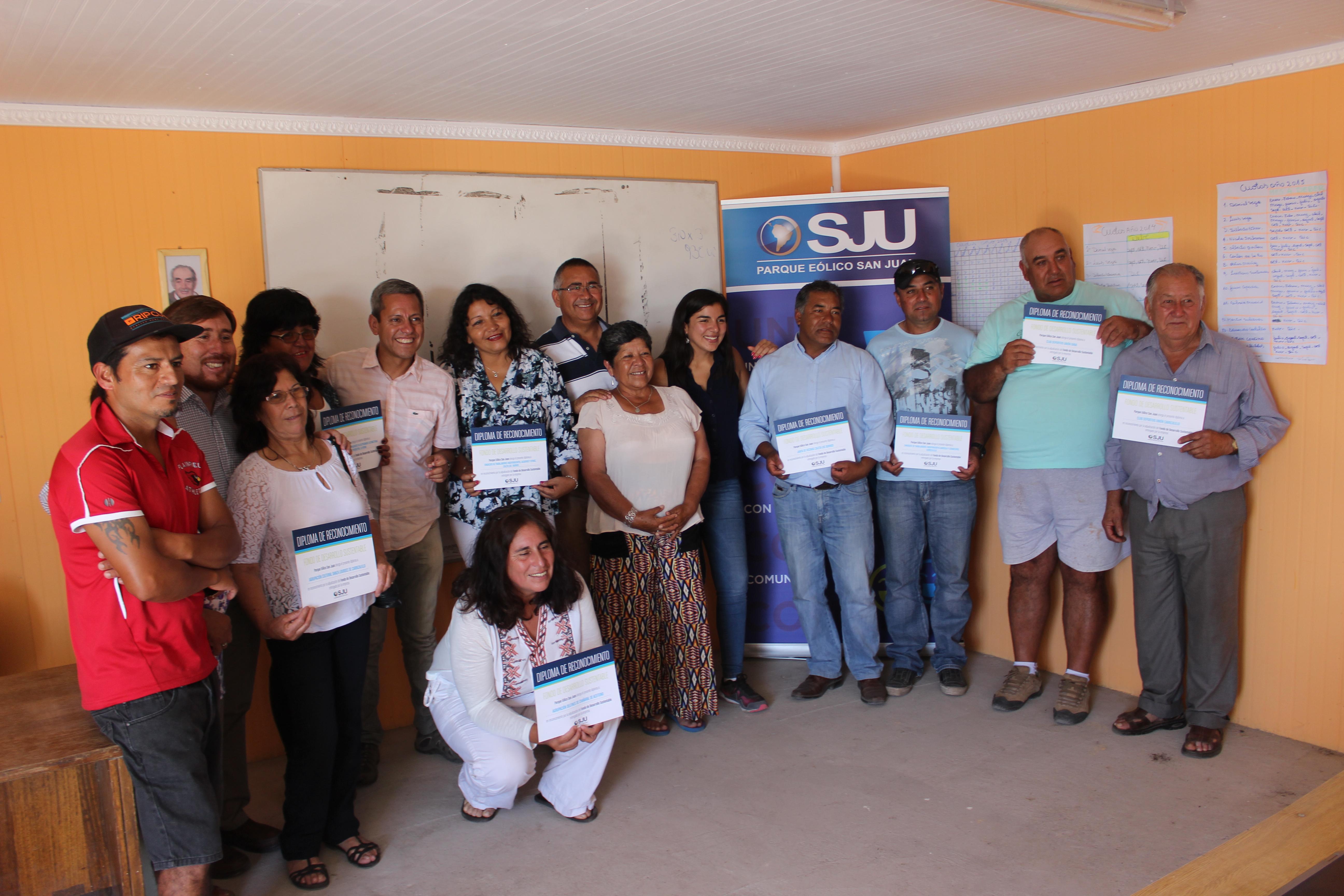 Parque eólico San Juan  entregó fondos de inversión comunitaria en sector costero de Freirina