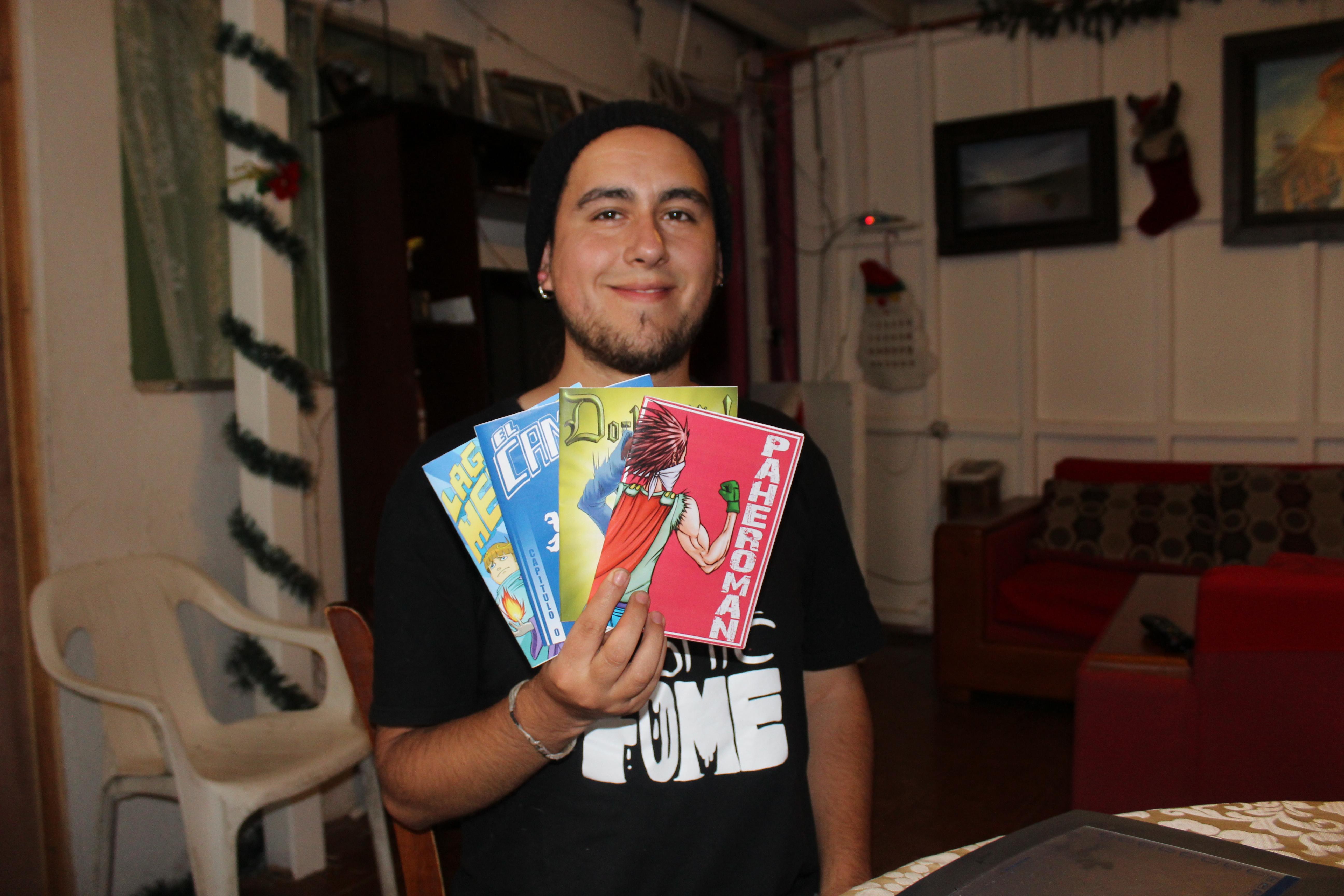 Joven ilustrador vallenarino destaca a nivel nacional en el webcomic