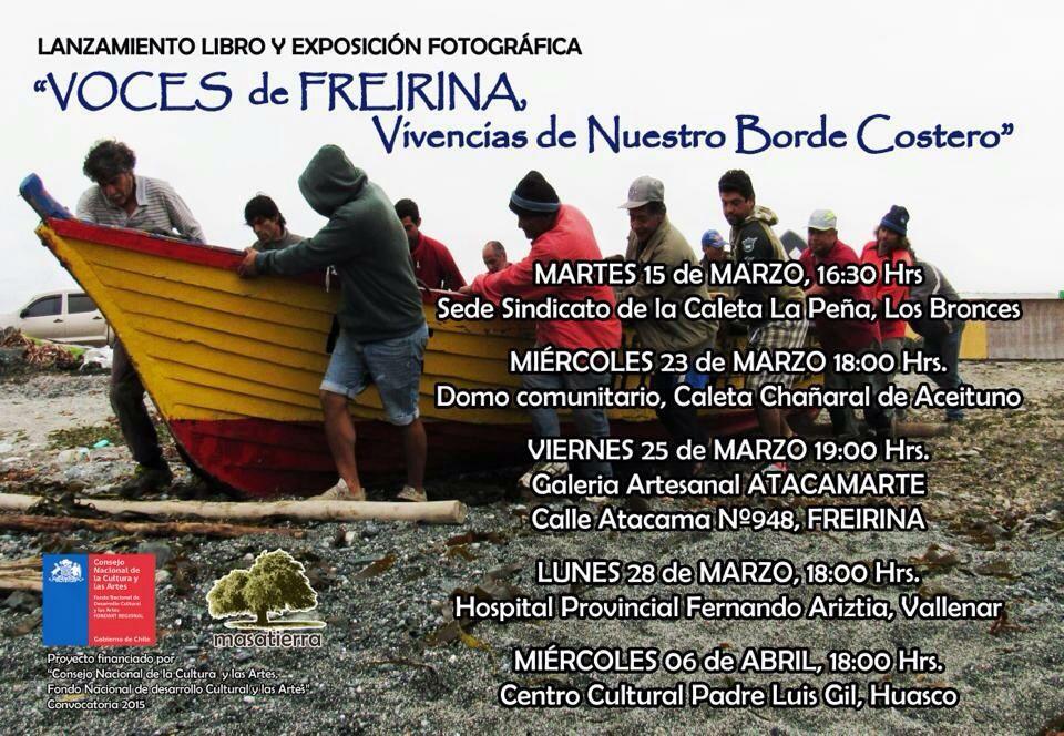 "Hoy presentarán libro ""Voces de Freirina, vivencias del borde costero"" en Vallenar"