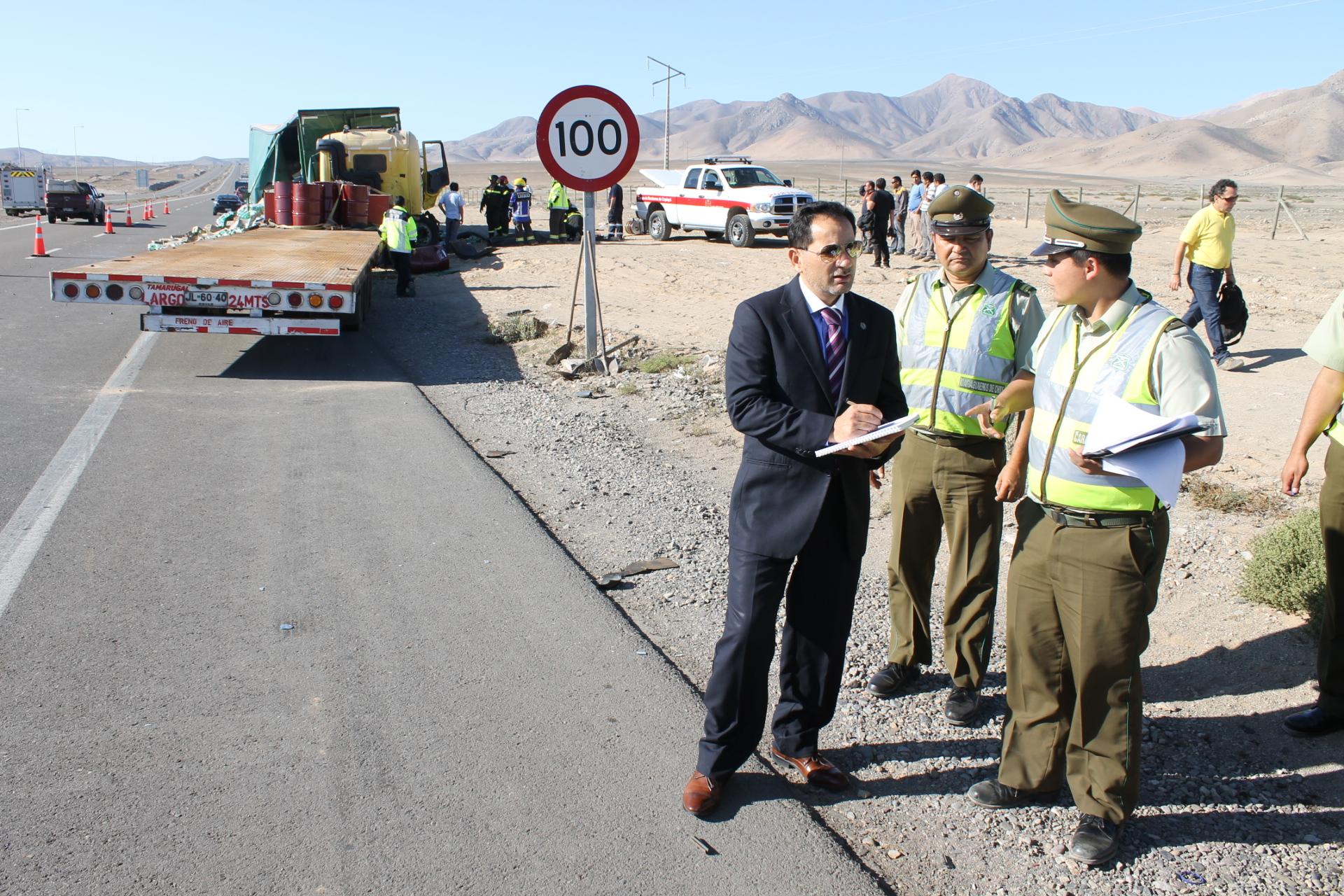 Fiscalía ordenó diligencias para aclarar causas de fatal accidente de camionero