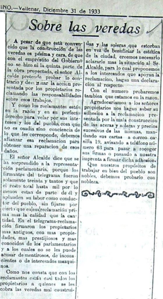 Veredas (31 diciembre 1933)