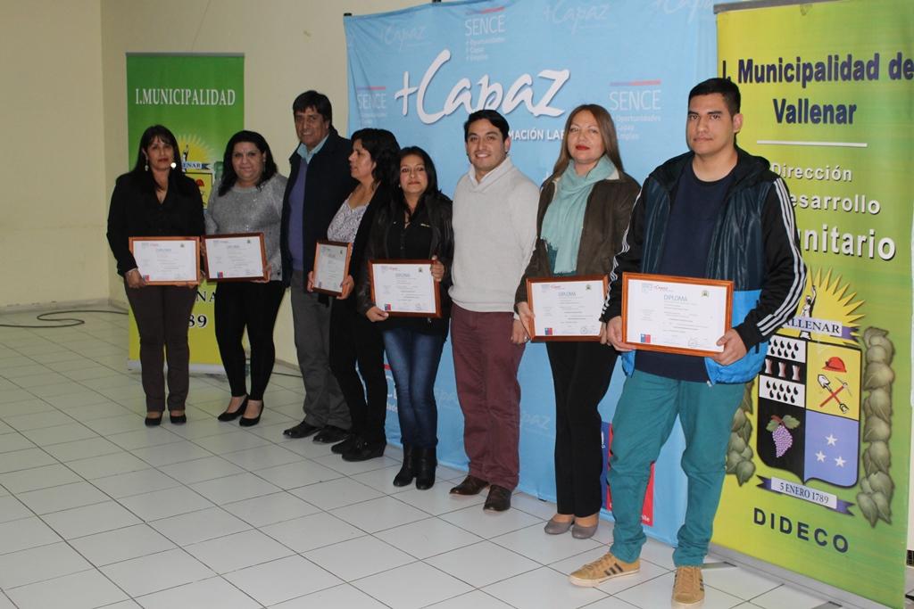 75 Jóvenes y Mujeres son certificados en diferentes oficios del Programa +Capaz en Vallenar