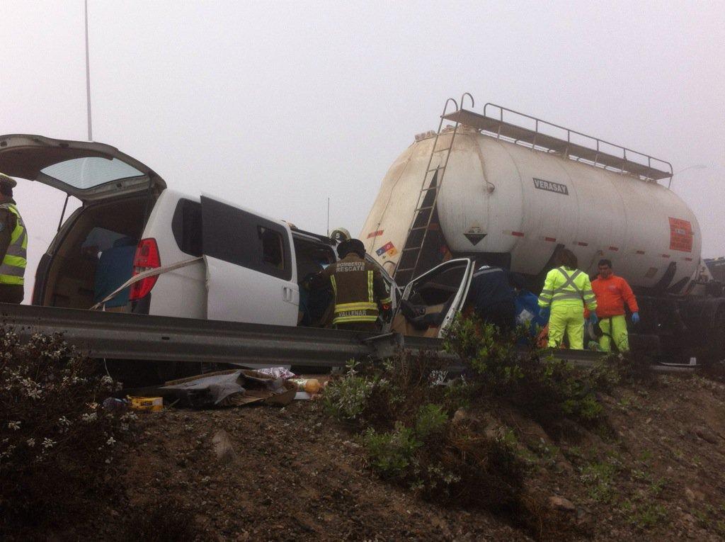 Cuatro muertros y tres heridos deja fatal accidente carretero al norte de Vallenar