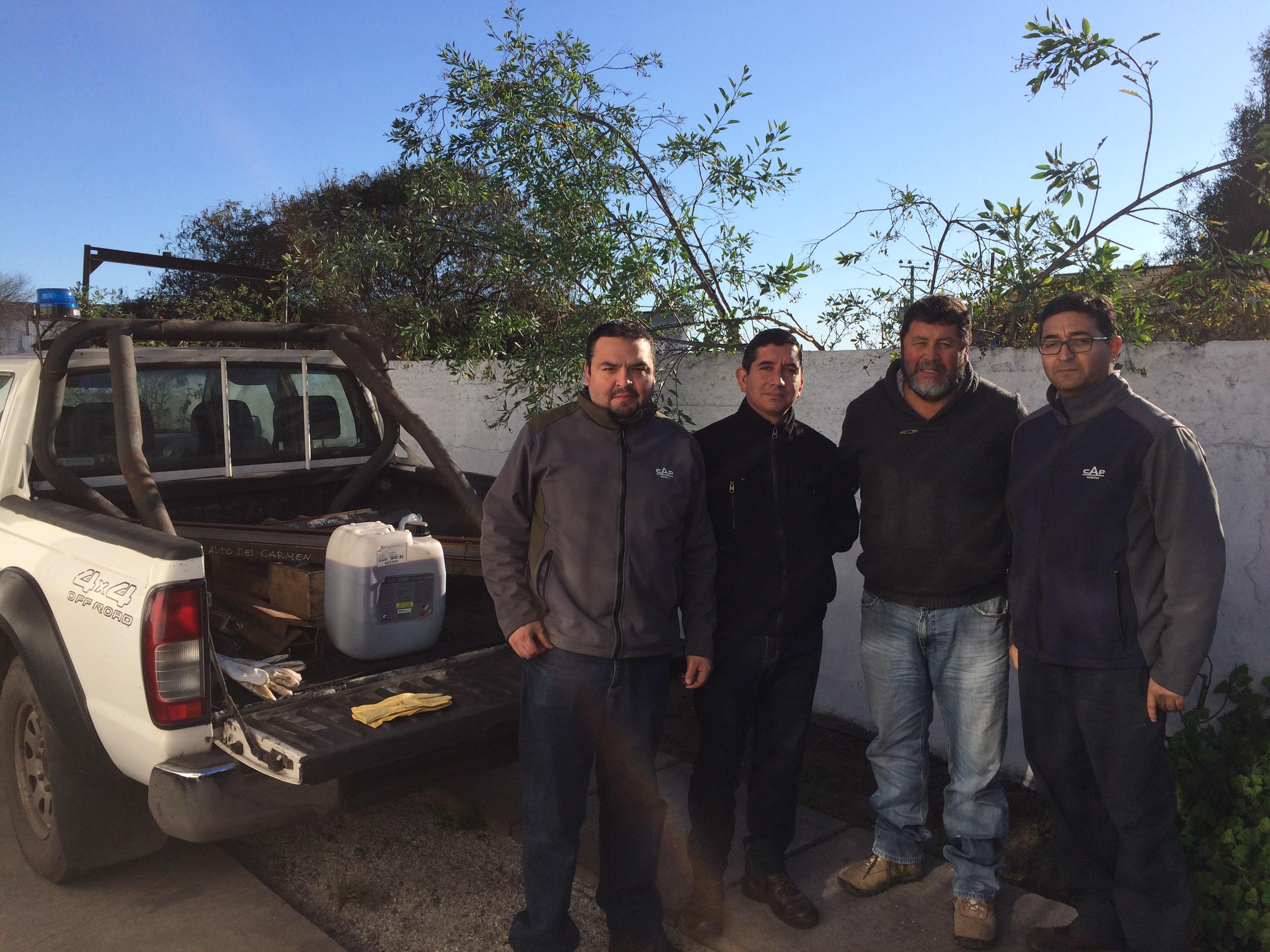 CAP Minería entrega insumos a alumnos de Mecánica Industrial del Liceo Alto del Carmen