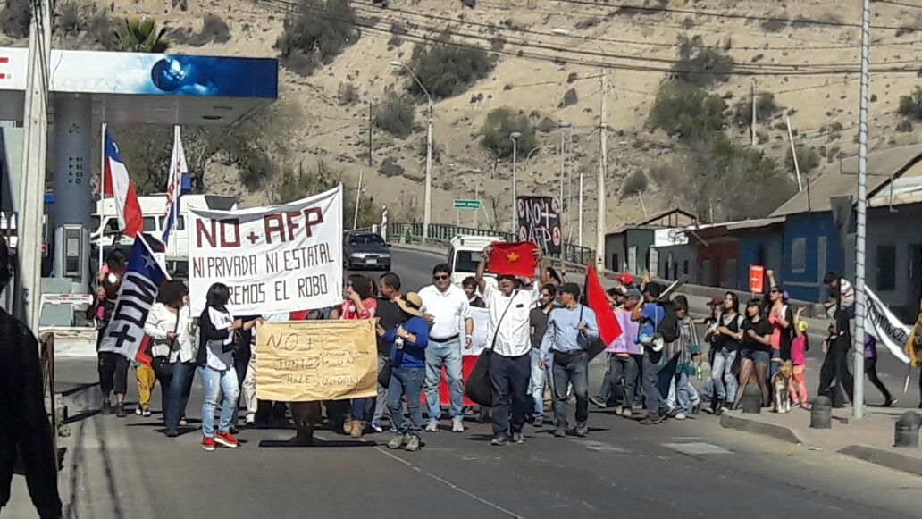 En la provincia marcharon contra las AFPs