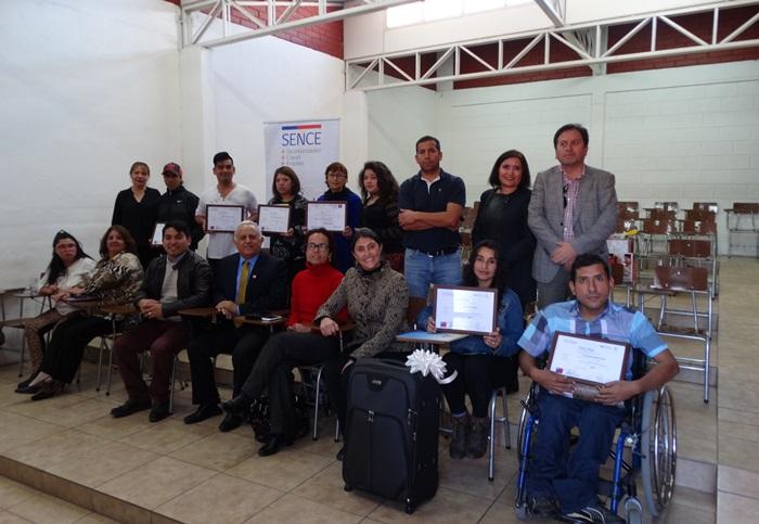 Entregan certificación a emprendedores con capacidades distintas en la provincia del Huasco