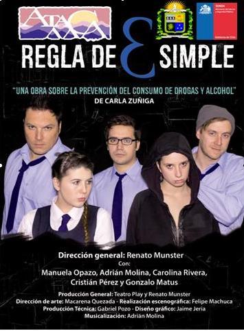 """Este 27 y 28 de septiembre se presentará la obra teatral """"Regla de 3 Simple"""" en Vallenar"""