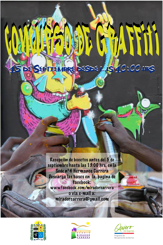 Barrio Mirador Carrera llama a  postular antes del viernes al concurso de grafitis