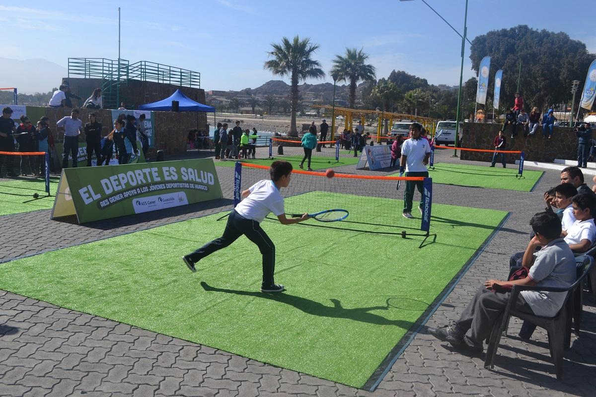 Jóvenes tenistas mostraron su talento en Torneo Interescolar en Huasco