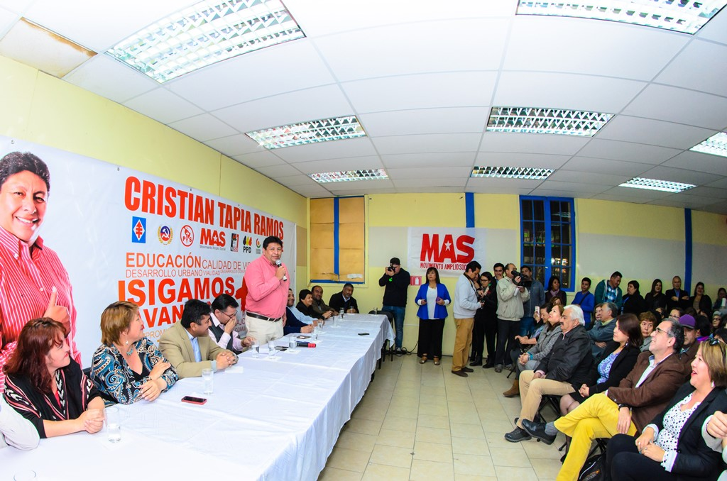 """Cristián Tapia: """"Espero que sea una campaña limpia y quiero desafiar a los candidatos que hagamos propuestas a la comunidad"""""""