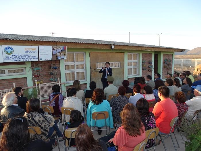 Inauguran sistema de televigilancia en sector poblacional de Vallenar