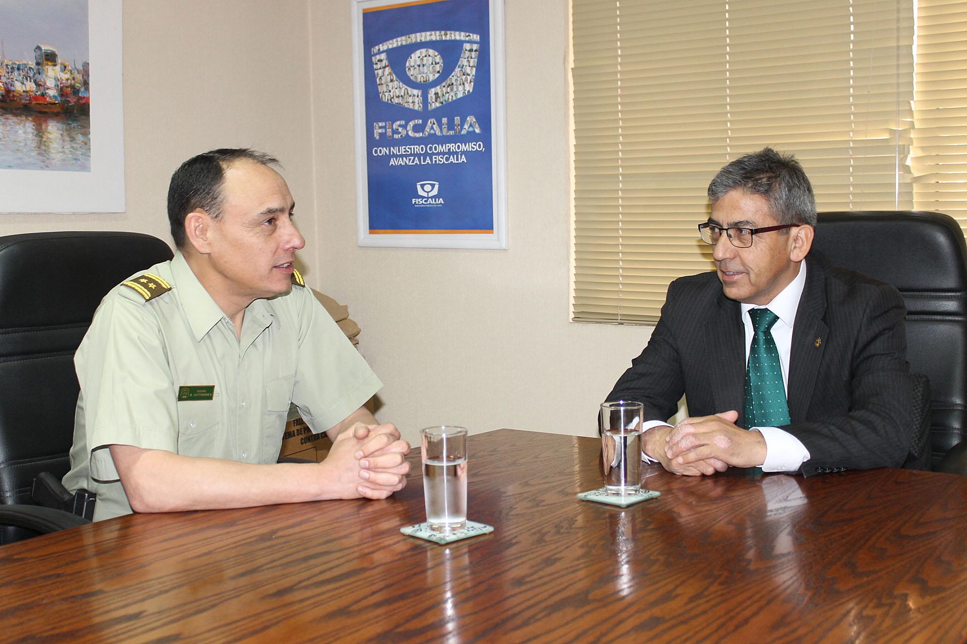 Fiscal regional valoró trabajo de apoyo  mutuo con Carabineros de Atacama