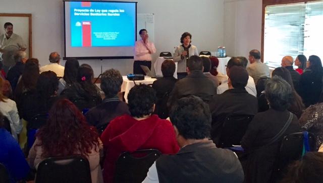 En Caldera se realizó Taller Regional sobre nueva Ley de Servicios Sanitarios Rurales dirigido para Comités APR de la región