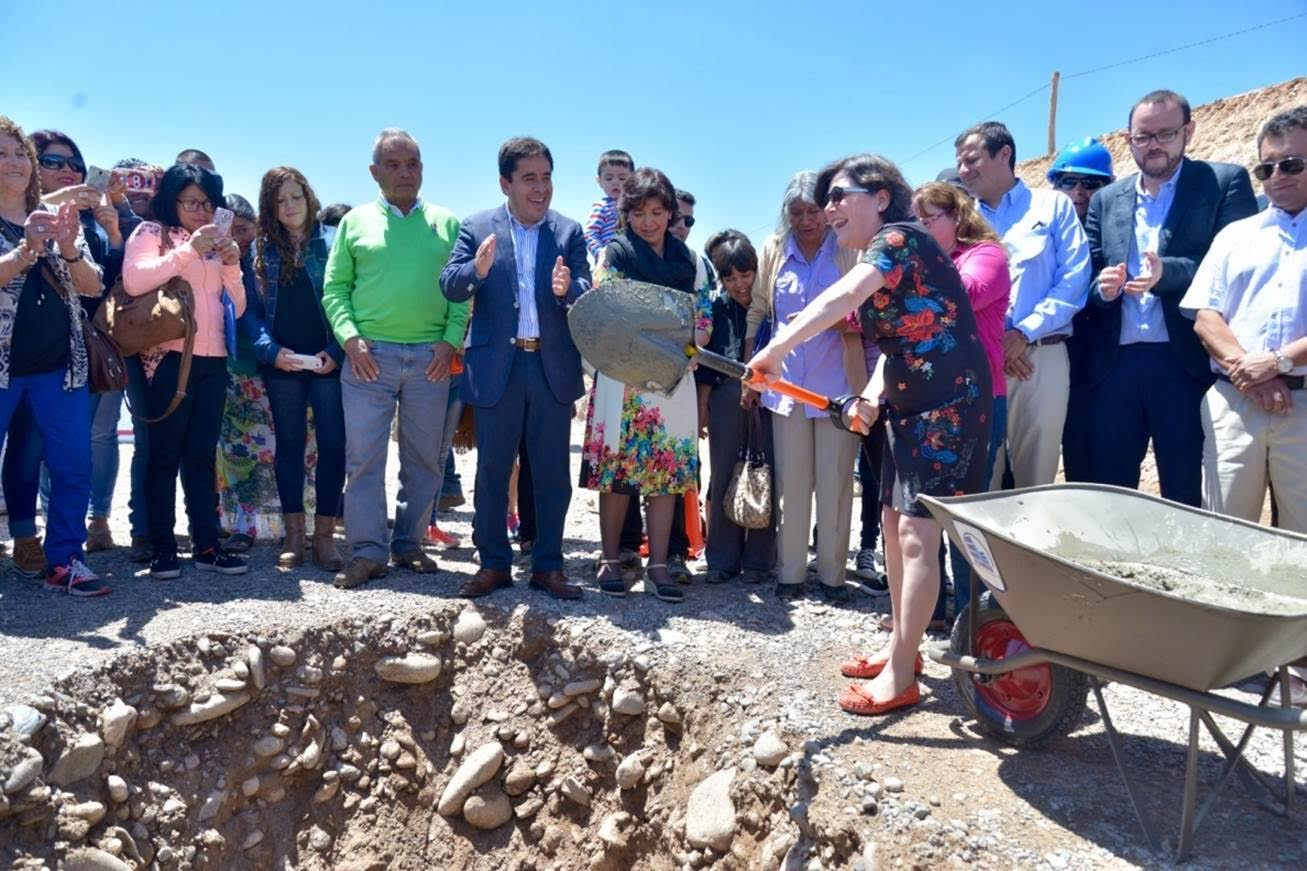 Colocan primera piedra en conjunto habitacional Maricunga de Vallenar