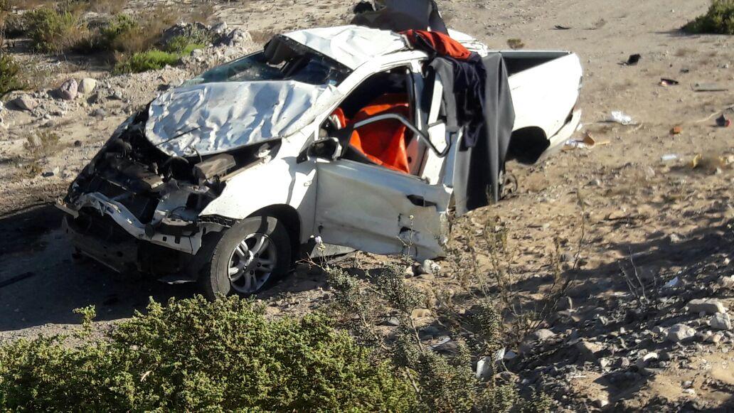 Tres trabajadores copiapinos fallecen en accidente al norte de Vallenar