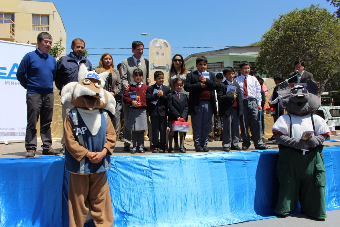 Ferronor premió a escuelas vallenarinas participantes del Ciclo de Charlas de Seguridad Férrea