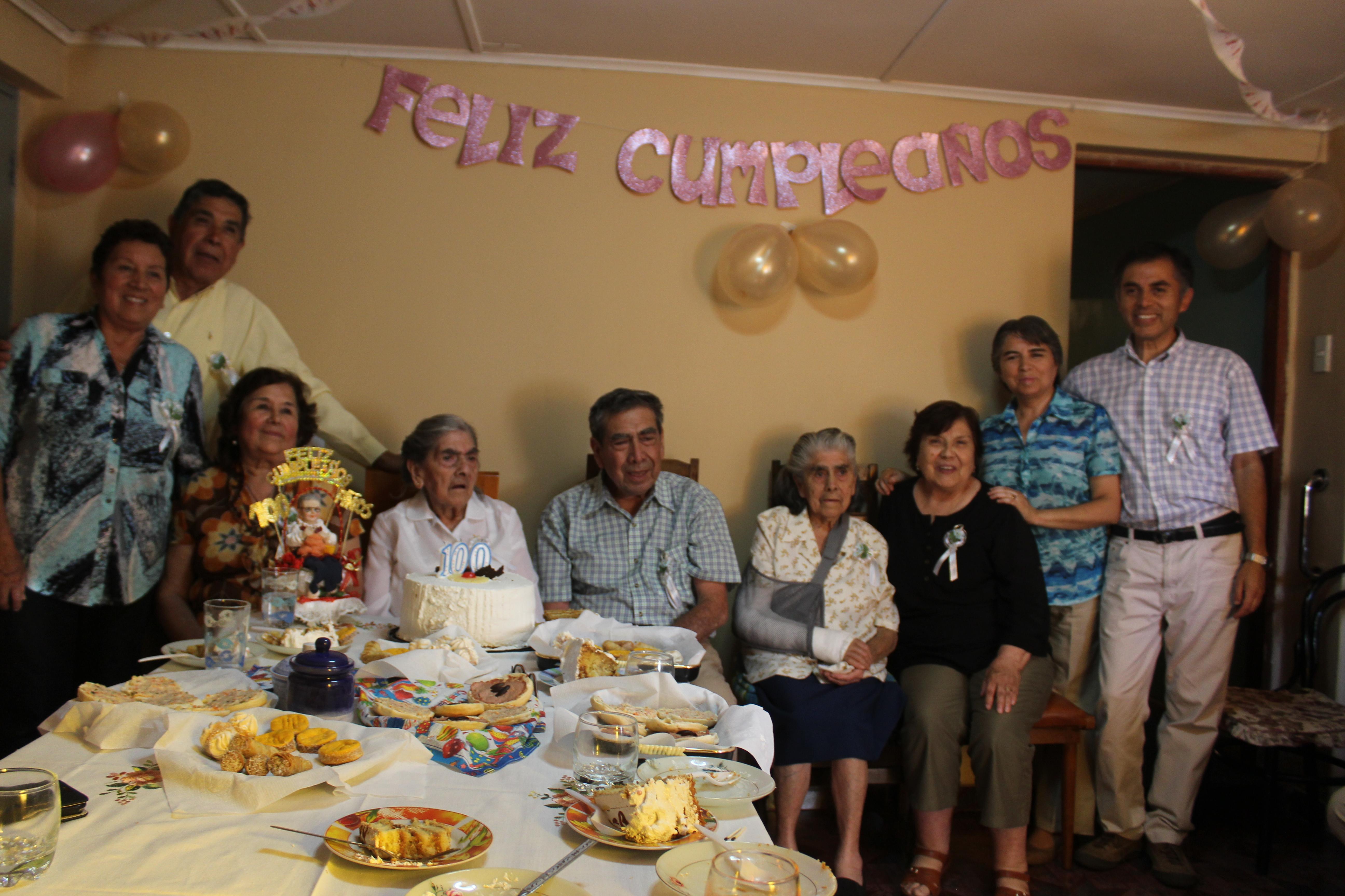 Abuelita vallenarina cumplió 100 años de vida
