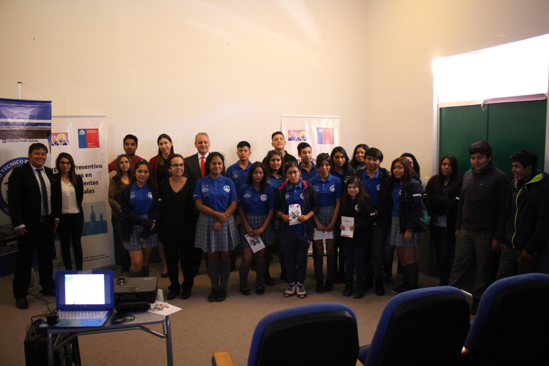 Finalizó Programa Preventivo de Drogas en Establecimientos Educacionales en el Liceo Alto del Carmen