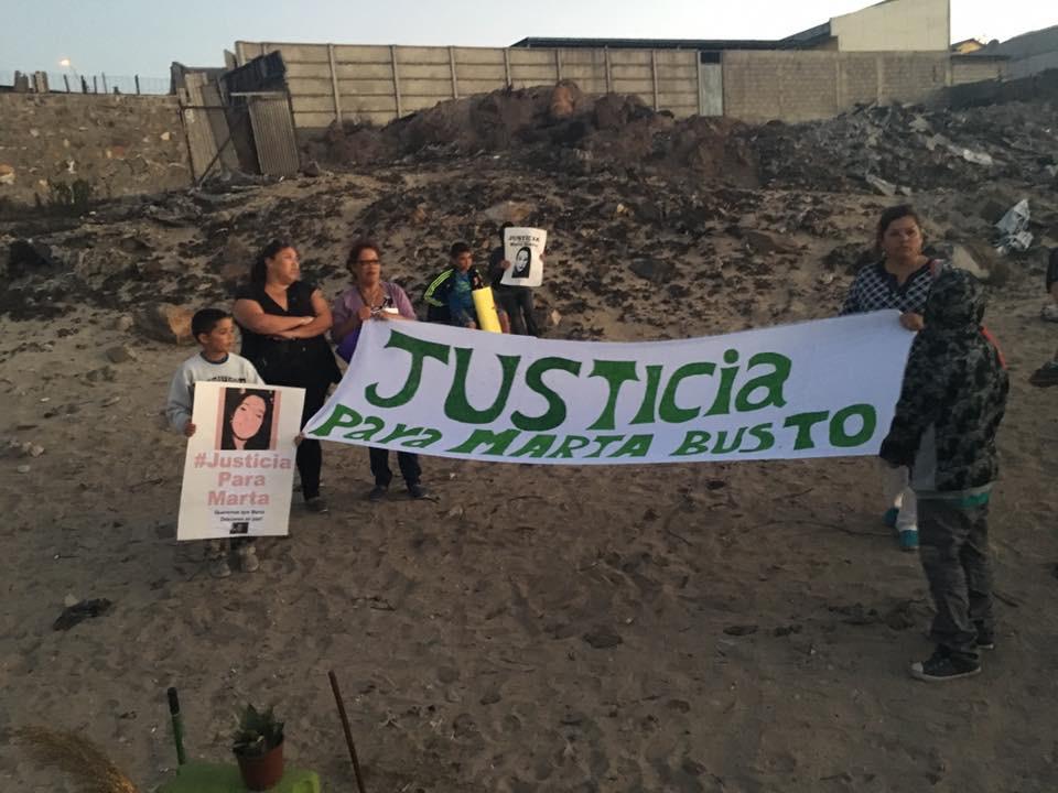Vecinos de Huasco salieron a la calle a pedir justicia para Marta Bustos