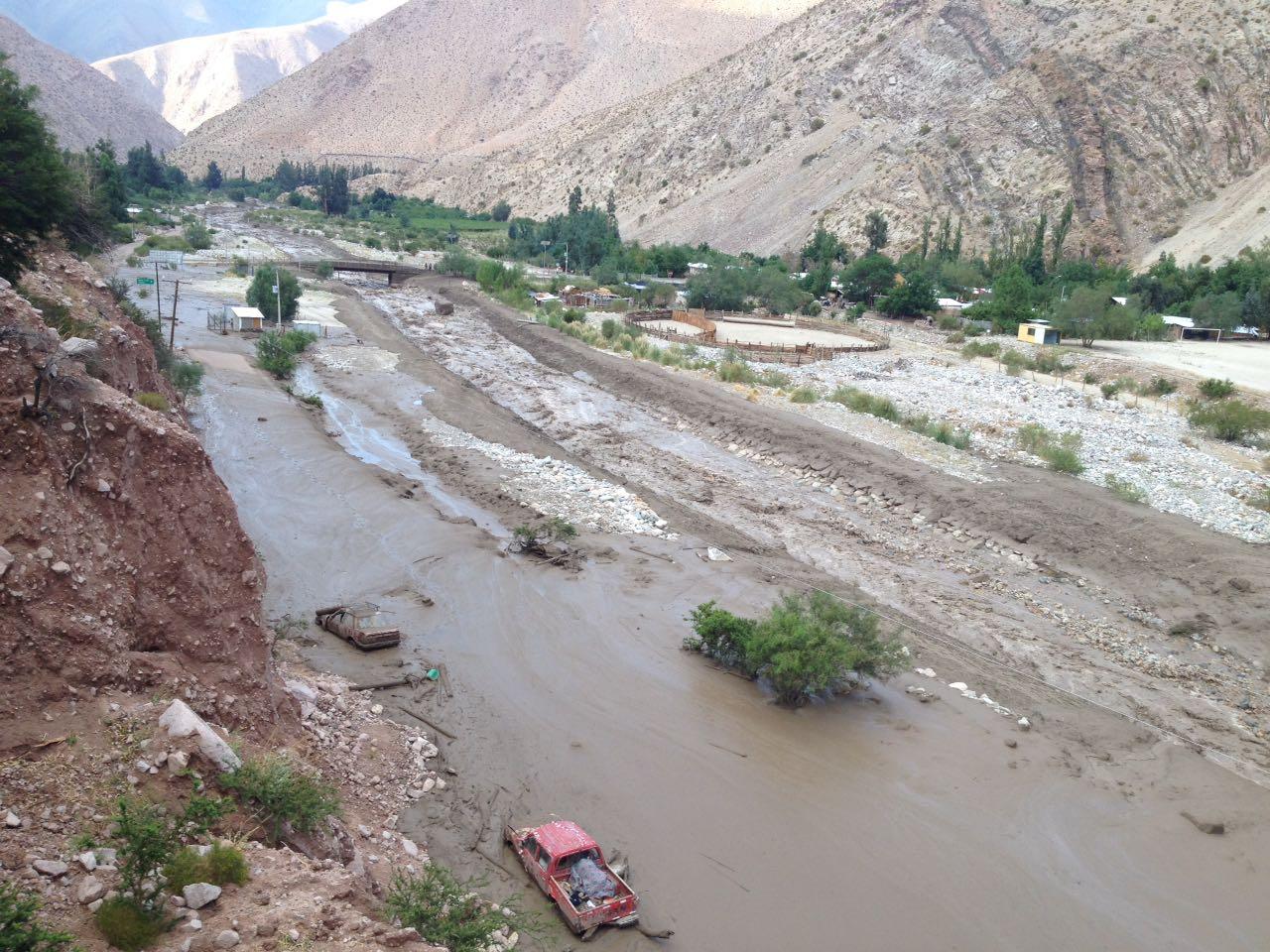 Aluvión en Chollay deja 1500 personas afectadas y dos casas destruídas (Fotos)