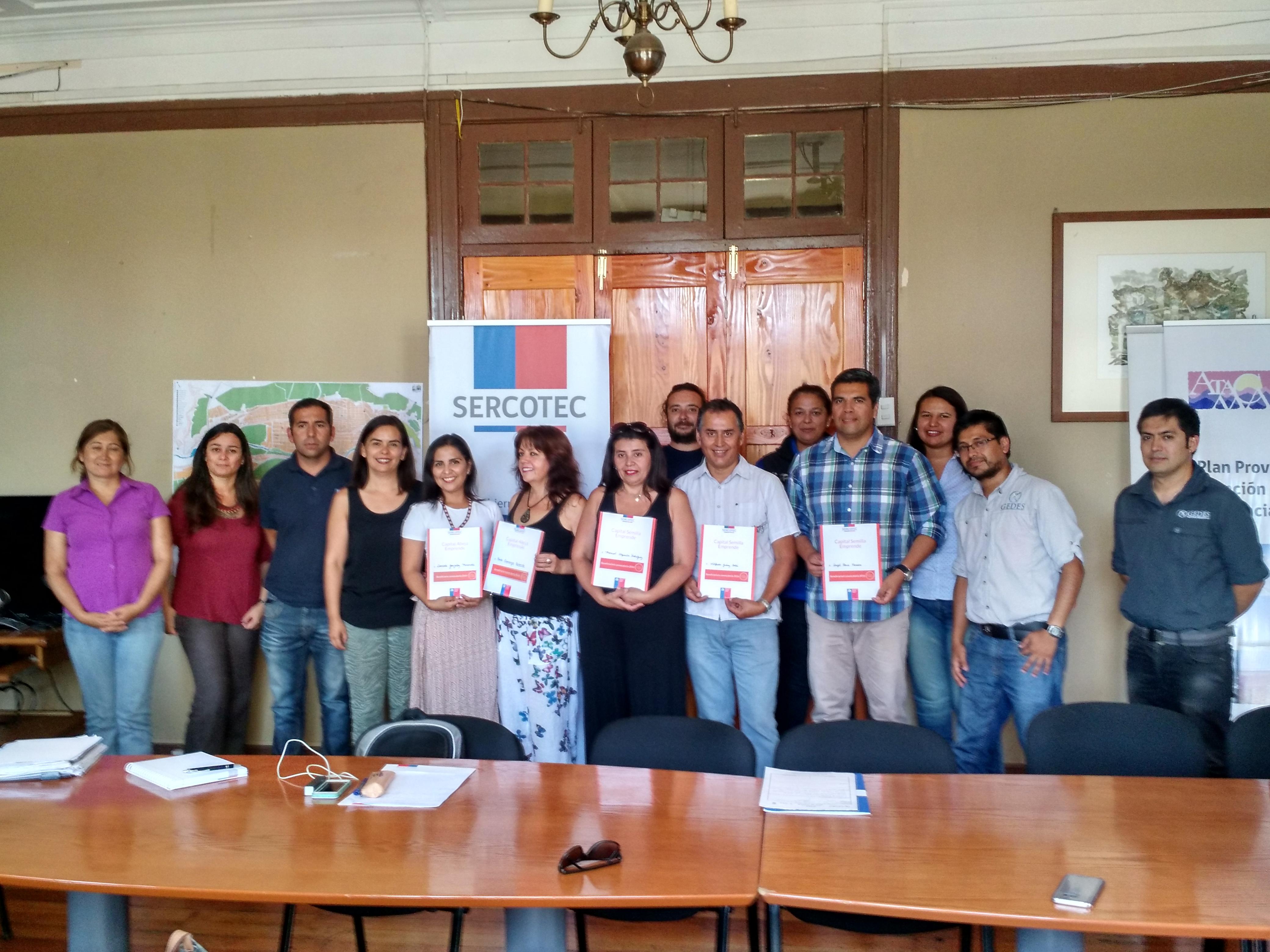 Sercotec  fortalece a 10 Micro y pequeños empresarios de la Provincia de Huasco