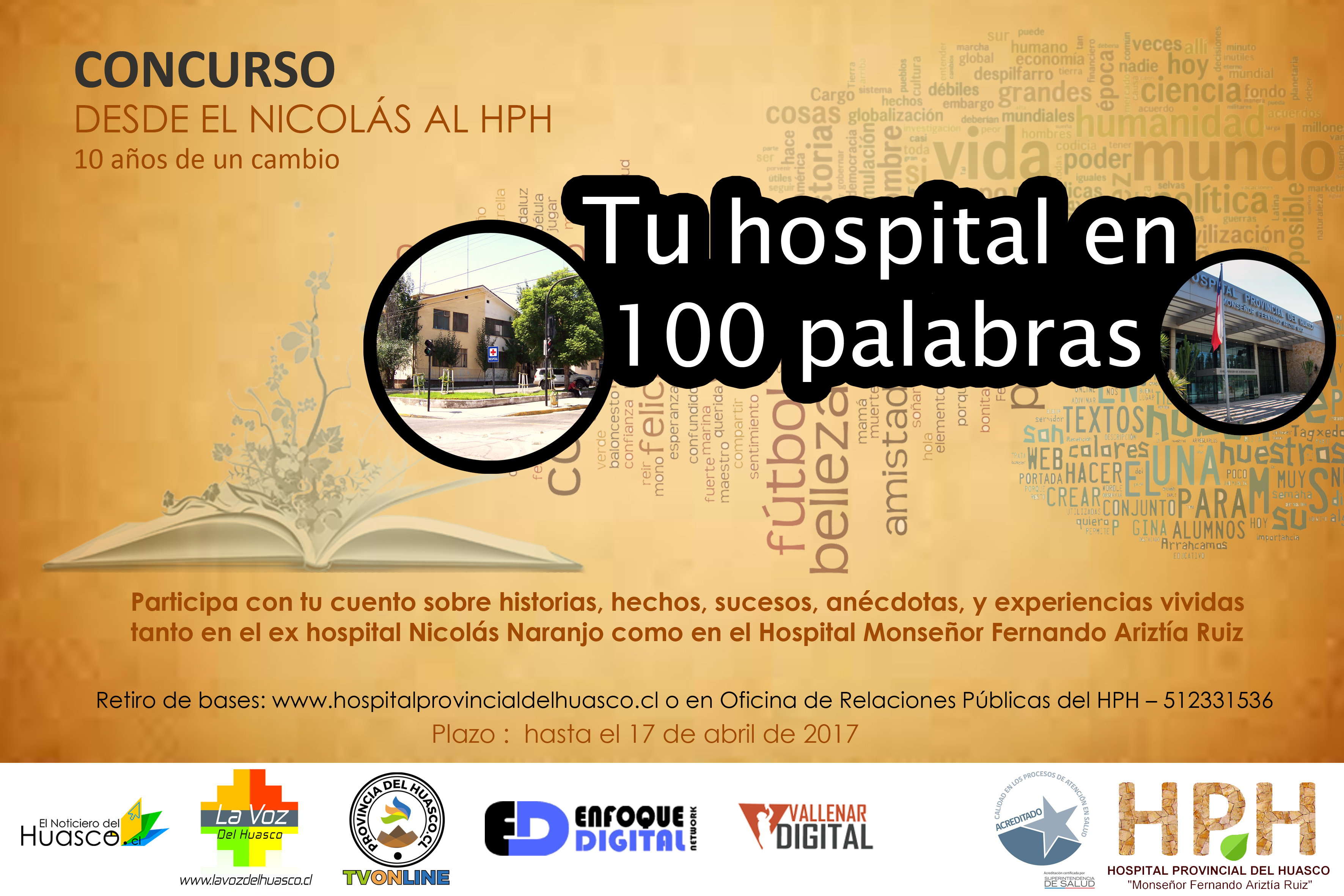 El lunes 17 de abril finaliza plazo para participar de concurso literario del hospital