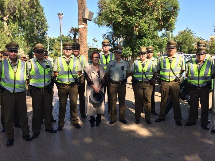 Gobernadora destaca labor de carabineros en la provincia del Huasco