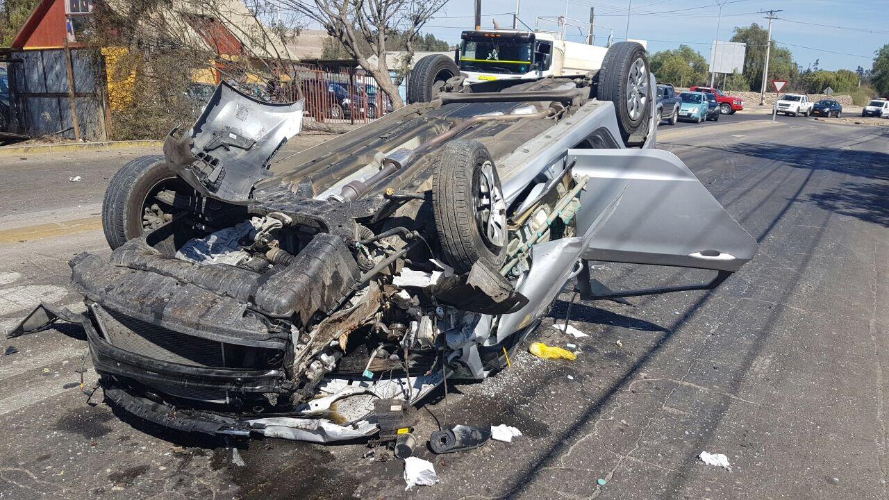 Violento choque en Vallenar: manejaba con 2,23 grados de alcohol en la sangre
