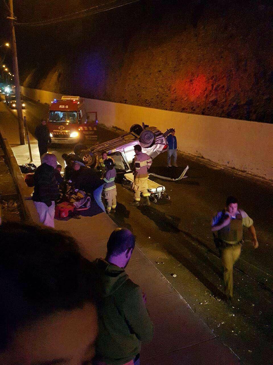 Colisión múltiple en sector El Cristo deja 5 lesionados en Vallenar