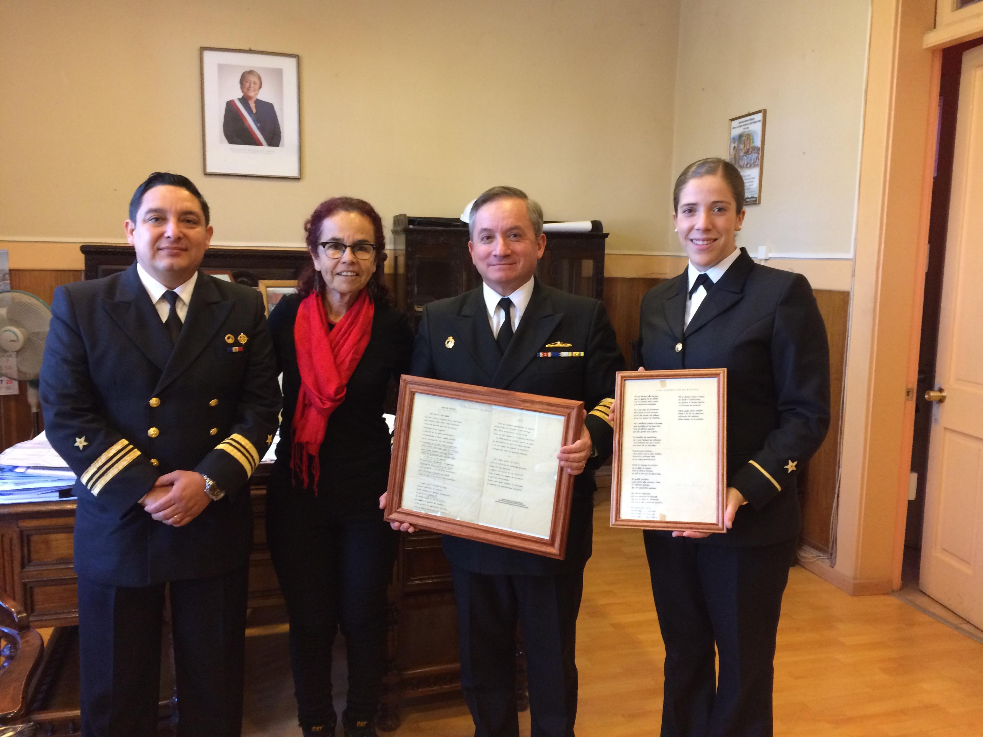 Comandante de buque científico saluda a gobernadora del Huasco
