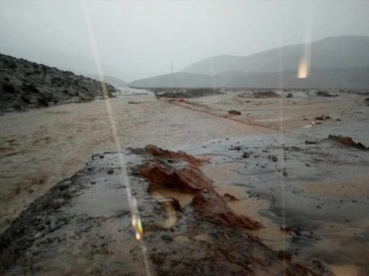 En Vallenar han caído 11,6 mm y hay 69 albergados en Cachiyuyo e Incahuasi