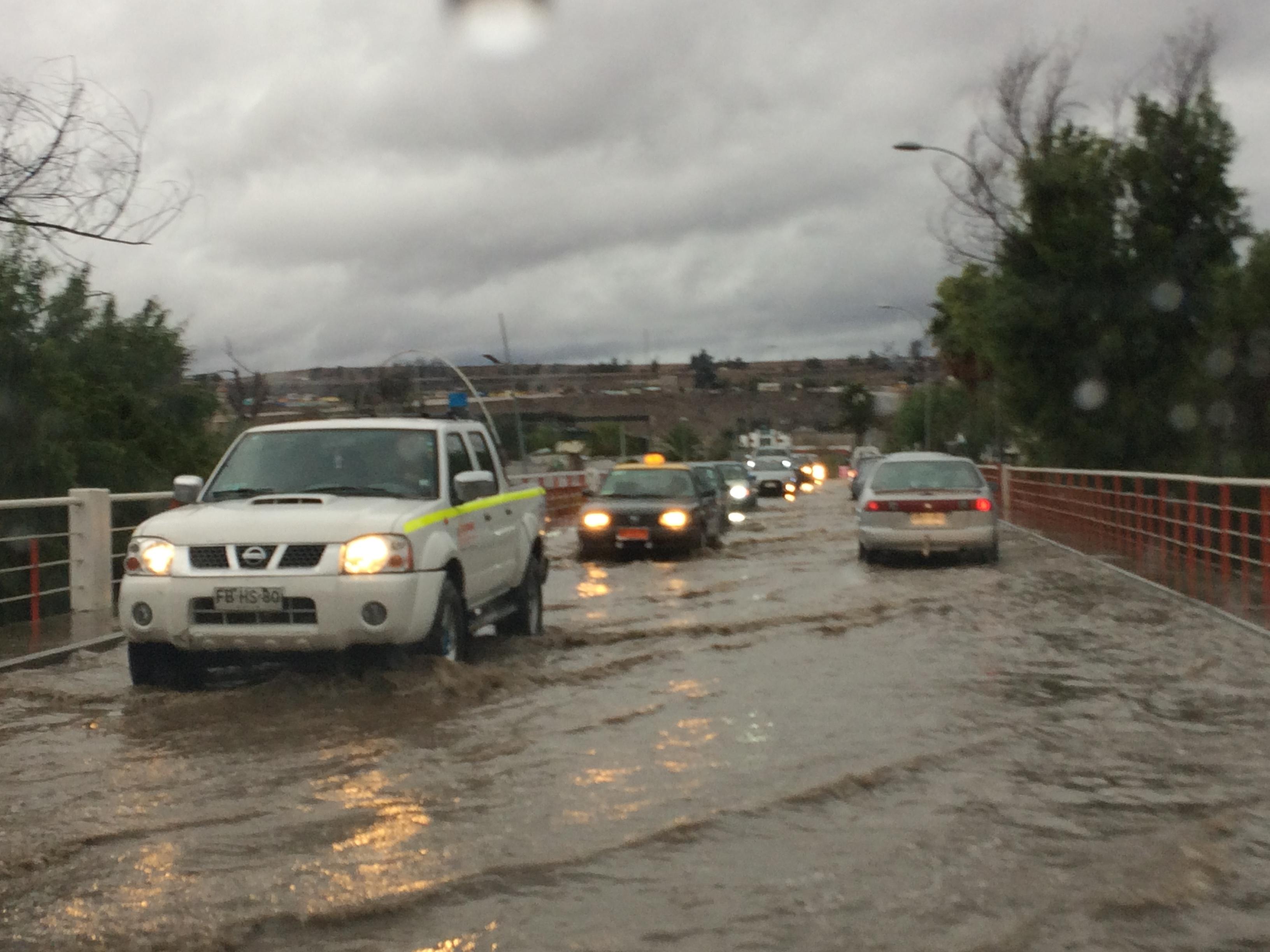 Vallenar: 43,1 mm de agua caída, 88 albergados en Cachiyuyo e Incahuasi y 9 familias aisladas en quebrada San Antonio