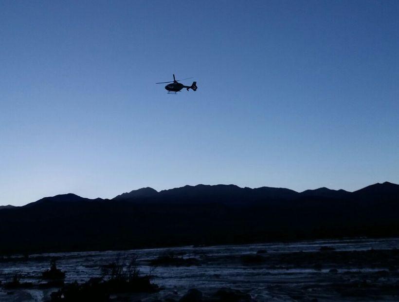 Rescatan a mineros que quedaron atrapados en quebrada vía helicóptero