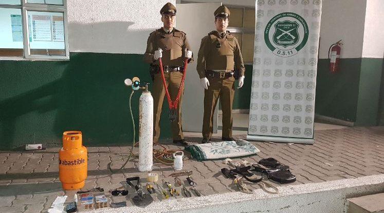 Carabineros detiene a banda que se disponía a robar en céntrica tienda de Vallenar