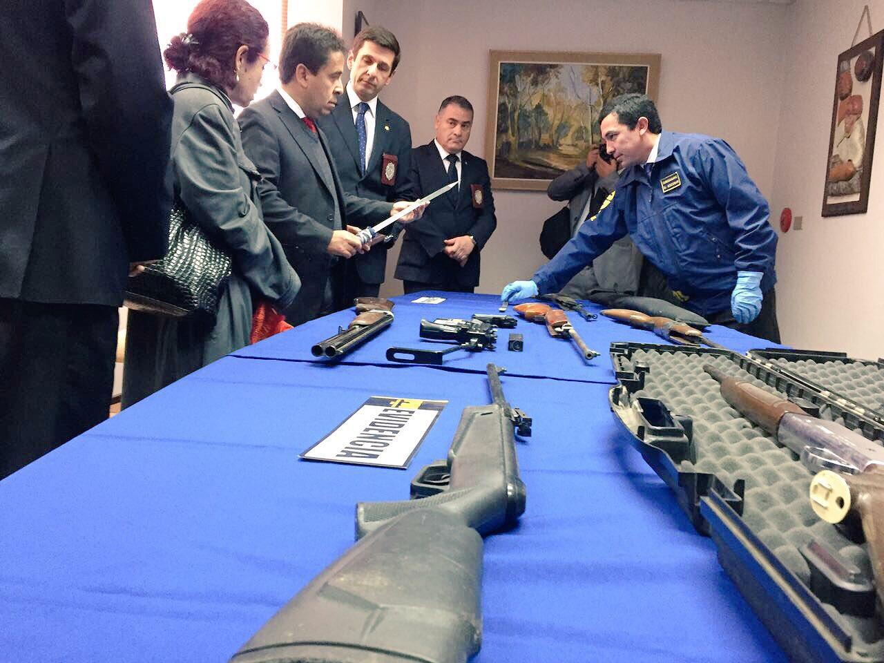 INTENDENTE DESTACA LA COORDINACIÓN DE SEGURIDAD PERMANENTE TRAS DECOMISO DE ARMAS Y DROGAS QUE REALIZÓ LA PDI EN VALLENAR