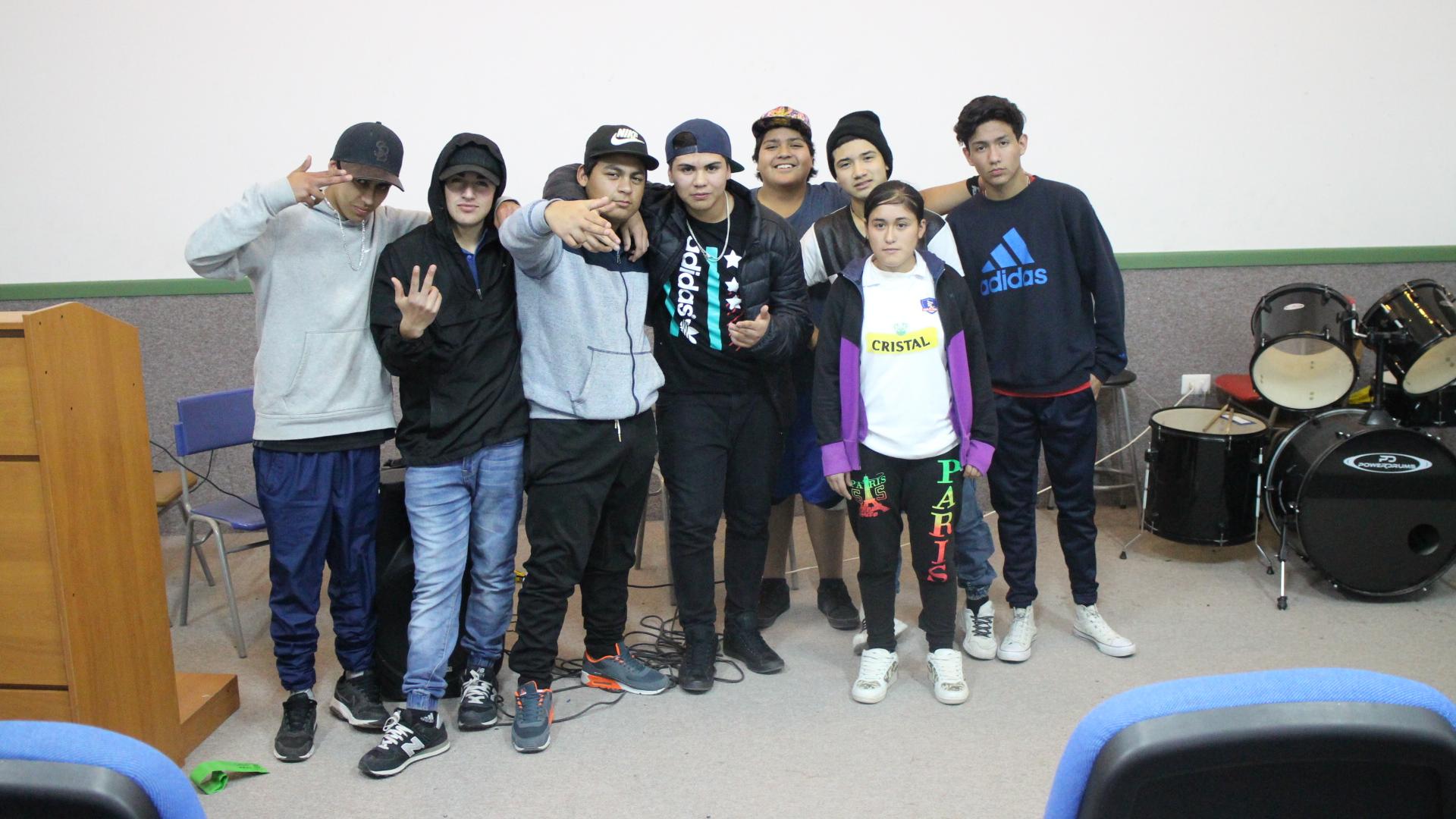 En liceo de Alto del Carmen el rap se tomó las aulas
