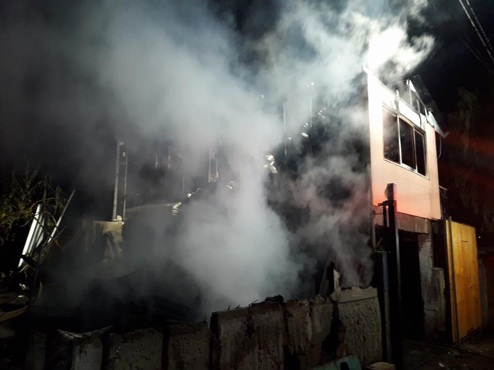 Incendio afectó vivienda en población Rafael Torreblanca de Vallenar
