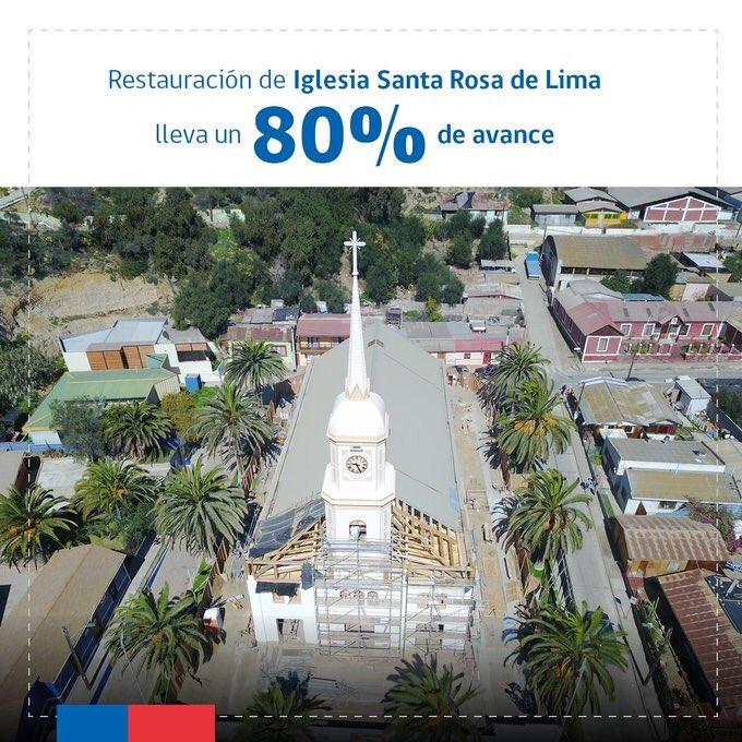 Iglesia Santa Rosa de Lima sería entregada a fines de mes