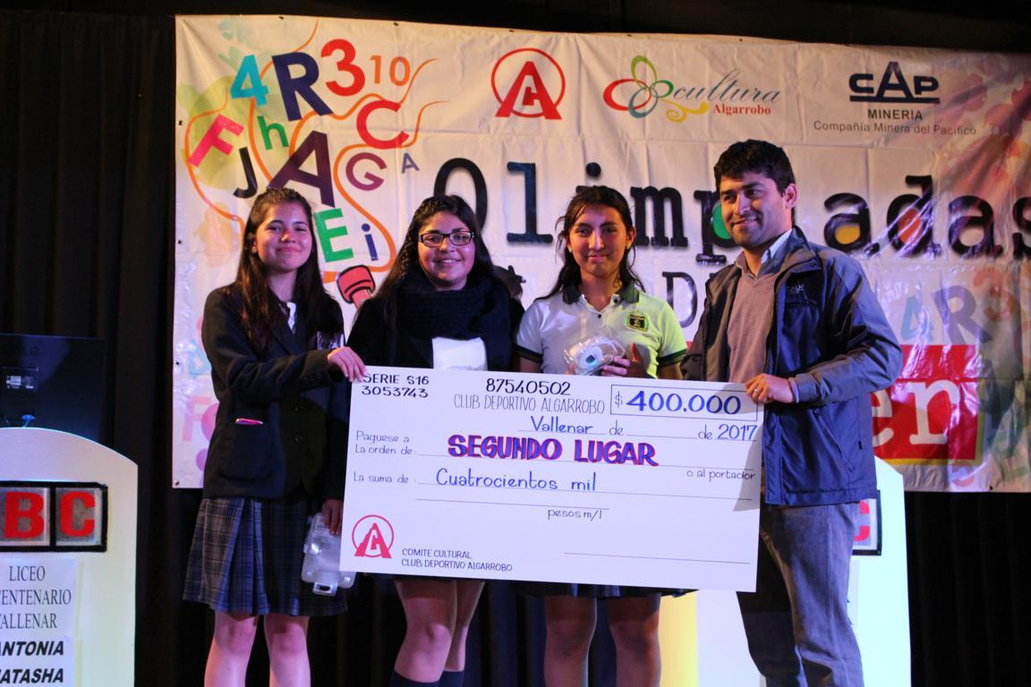 Liceo Bicentenario obtiene 2do lugar en Olimpiadas del Saber 2017
