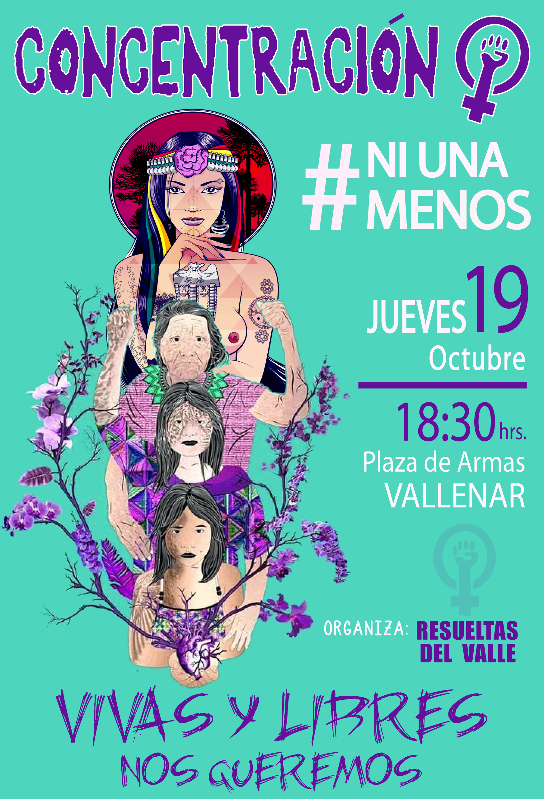 Invitan a concentración para visibilizar la violencia contra la mujer en Vallenar