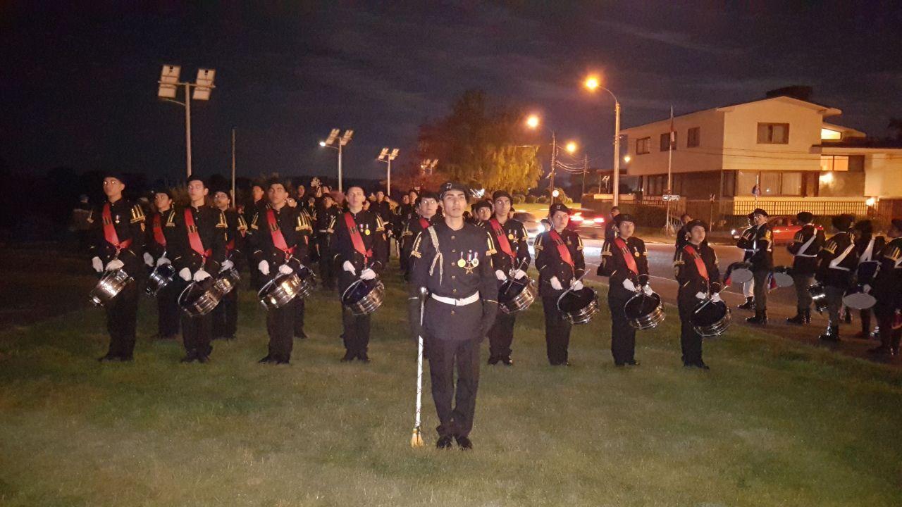Banda Escorpiones de Atacama de liceo San Francisco participó de concurso nacional de bandas de guerra