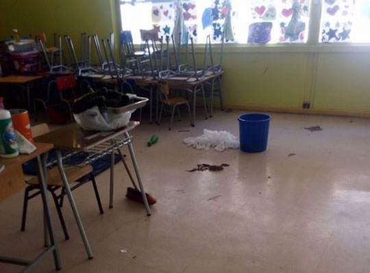 Denuncian aparición de roedores muertos en sala de kinder y prekinder en escuela de Vallenar