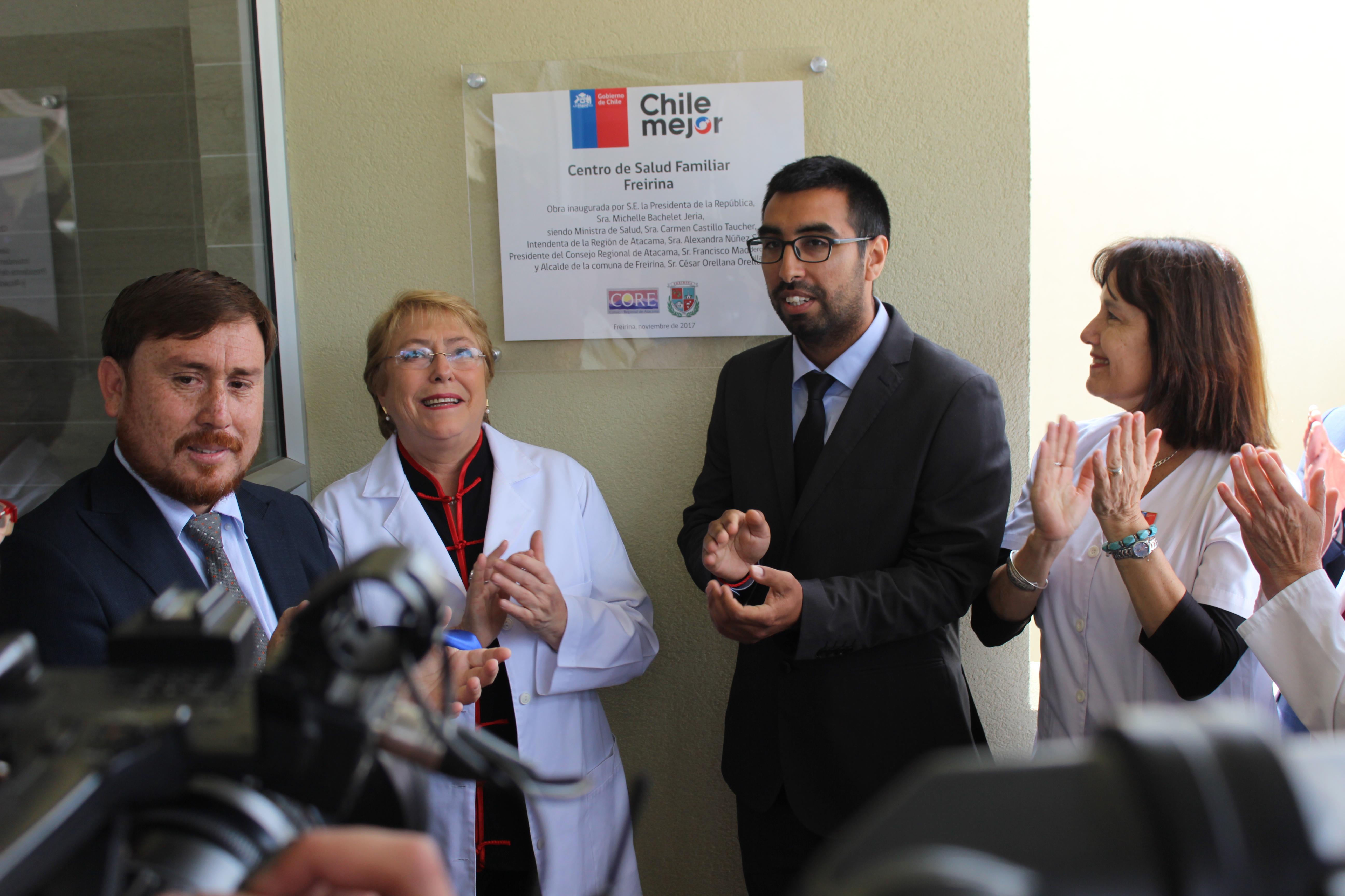 Presidenta Bachelet inaugura Cesfam que beneficiará a más de 10 mil personas en Freirina