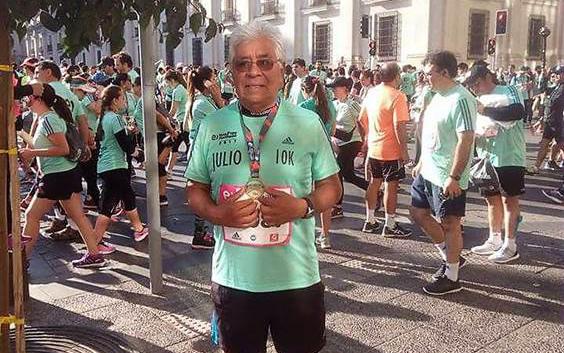 Huasquino de 72 años fue premiado con inscripción gratuita para Maratón de Santiago