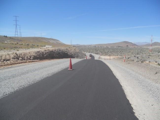 Avanzan obras de pavimentación en la ruta que une a Domeyko  con Carrizalillo