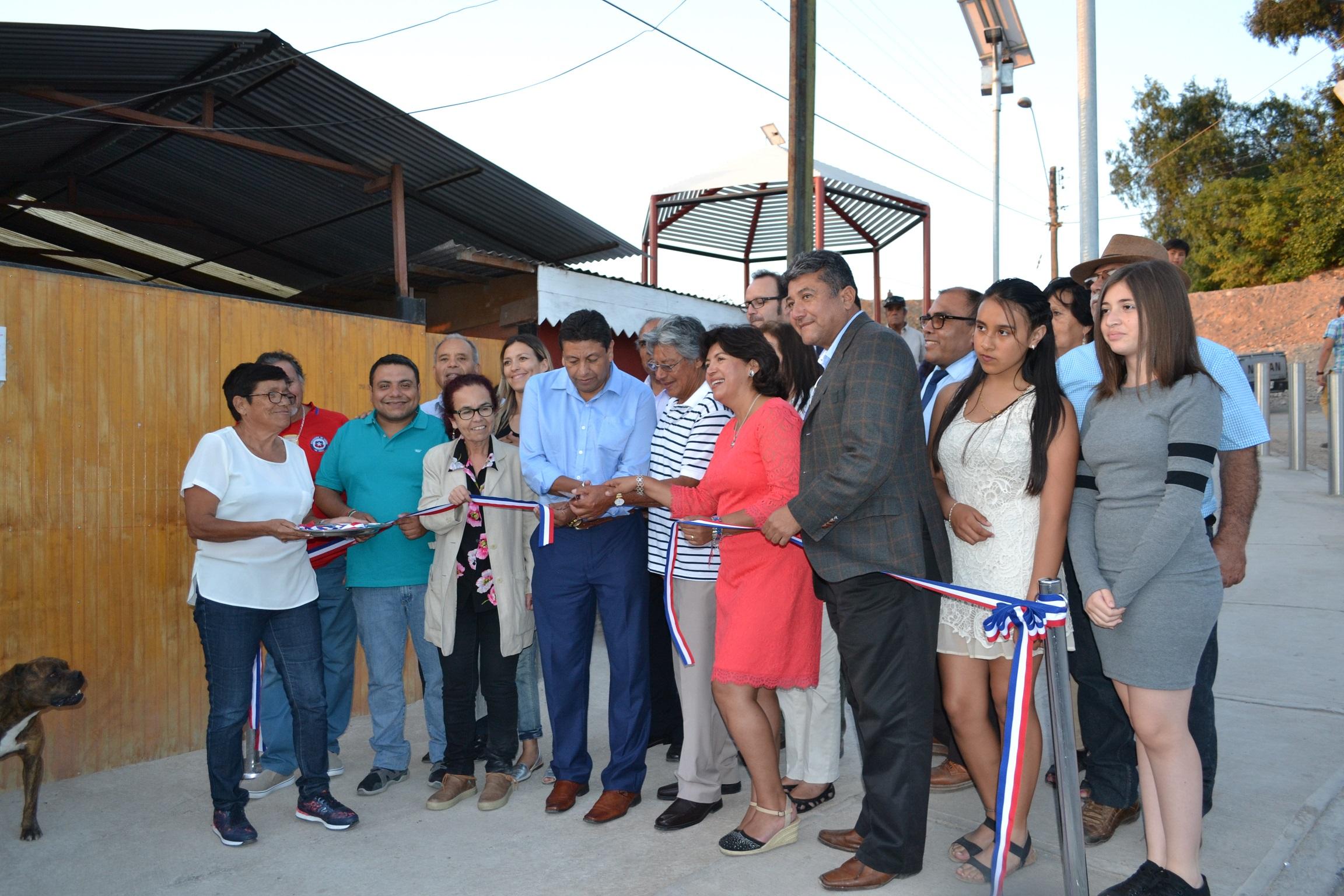 Inauguran Obras de Mejoramiento  en Barrio Canal Ventanas de Vallenar