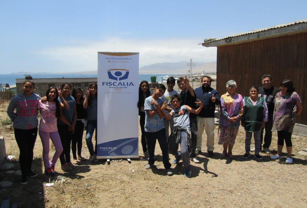 Fiscalía sostuvo encuentro con jóvenes de campamento de verano en Huasco