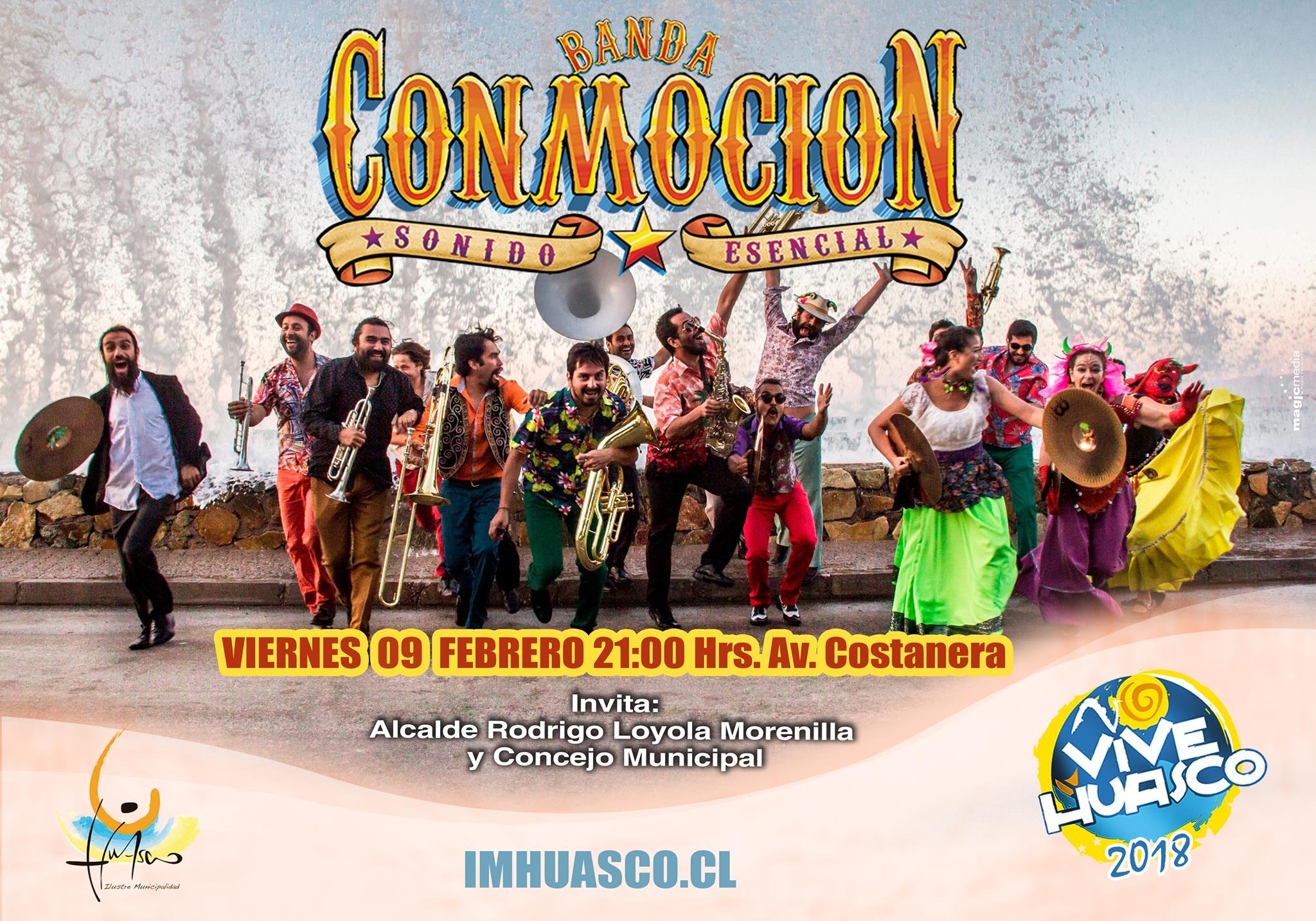 Hoy se presenta la Banda Conmoción en Huasco