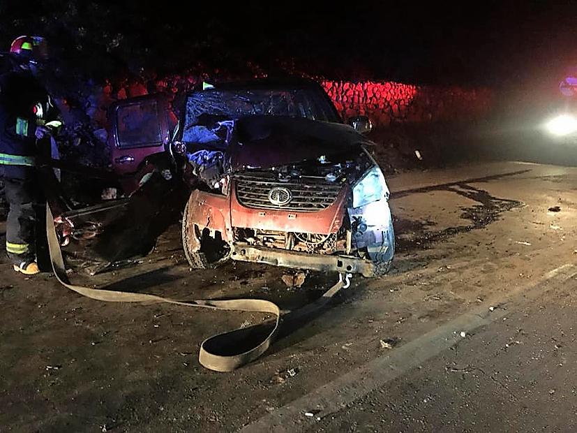 Volcamiento en Huasco deja tres personas lesionadas