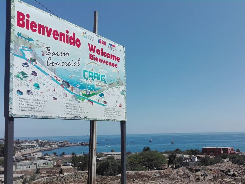 Barrio comercial Craig de Huasco y Sercotec fomentan el cuidado del medio ambiente y el turismo en la comuna puerto